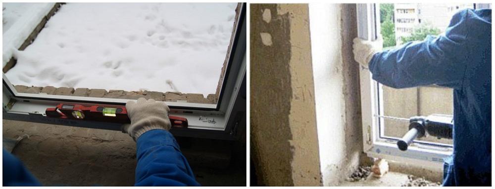 монтаж пластикового окна — копия
